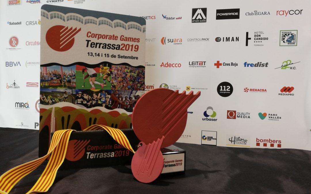 Deporman diseña los trofeos y medallas de los Corporate Games Terrassa 2019